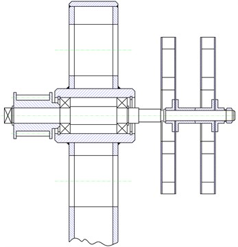 Diagram of bearing of the examined object