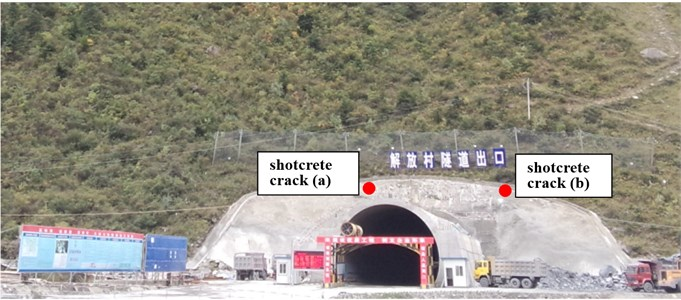 Tracking for construction risk of tunnel portal