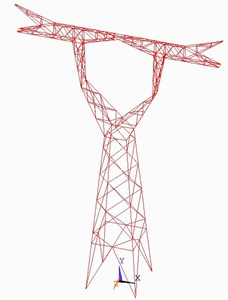 The transmission tower structure