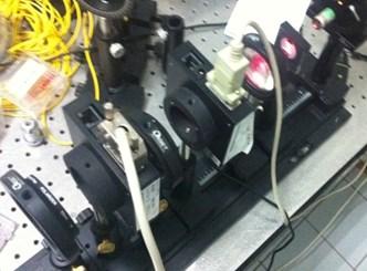 Structure of a) Michelson Interferometer-based vibration sensor; b) LC-SLM encoder