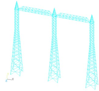 The whole finite element model  of the steel frame