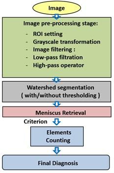 Menisci segmentation based on watershed method algorithm