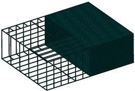 The section view of finite element model of cabin