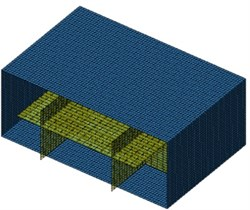 Field points and boundary element model of ship cabins