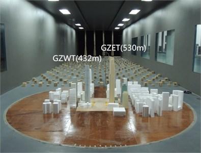 Models in wind tunnel