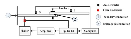 A diagrammatical scene of the experimental setup