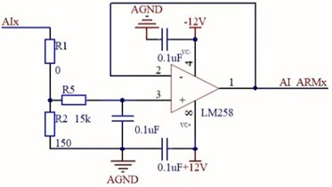 Schematic diagram  of the analog input channel