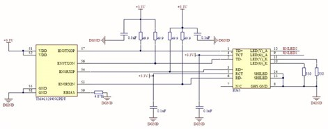 Schematic diagram  of the Ethernet communication