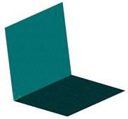 Finite element model of L-shaped plate