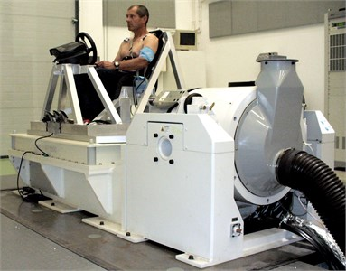 Test bench for whole-body vibration simulation