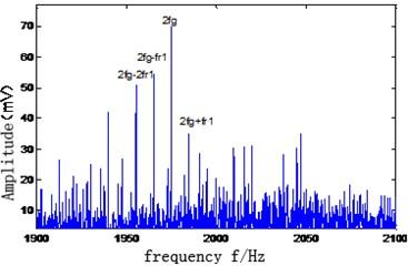 Local amplification figure of amplitude spectrum of vibration signal
