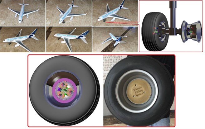 The virtual prototype and scaled model of the powered wheel
