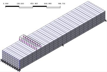 Midas/FEA beam model