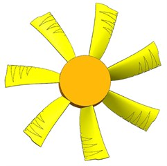 Model of the non-smooth surface fan