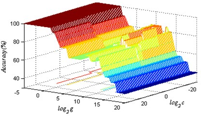 The 3D spatial distribution of SVM classification accuracy