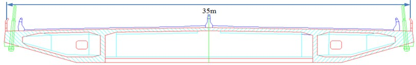 Two-dimensional model and size of a long-span bridge