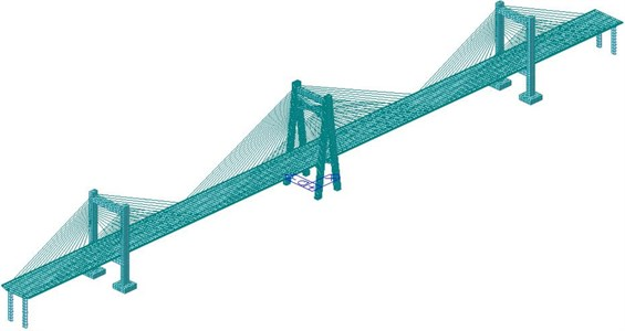 Finite element model of the long-span bridge