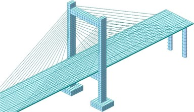 Finite element model of local structures of the long-span bridge