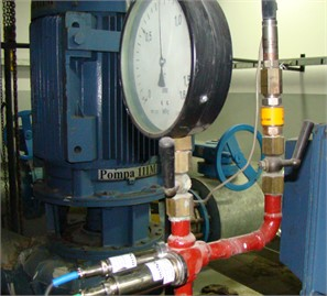 Measuring points a) SBC placed close to working in systems pump,  b) SBC located on transmission part of pipework