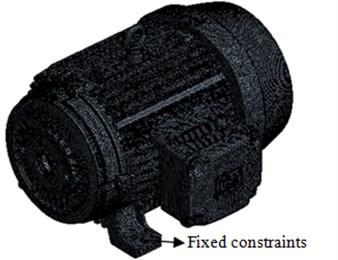 Finite element model of a motor