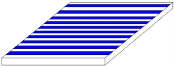Laminated plate with different laying angles