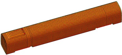 Boundary element model of high-speed trains
