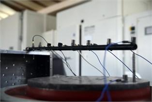 The experimental test setup