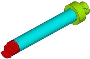 Geometric and finite element model of boring bars