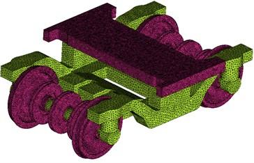 Gird models of the high-speed train