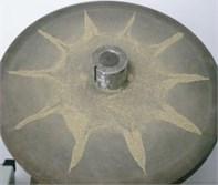 Test vibration modes of fine sand