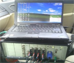 Test equipment and position of steering system modal