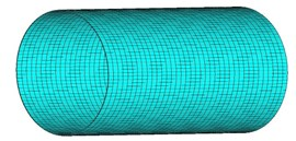 3-D picture of the cylindrical shell