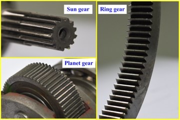 Gears after experiment
