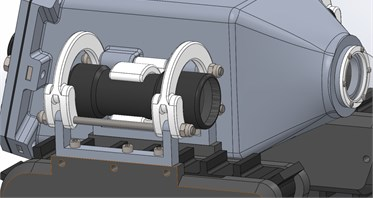 CAD model of the track suspension