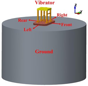 Geometry model of vibrator-ground