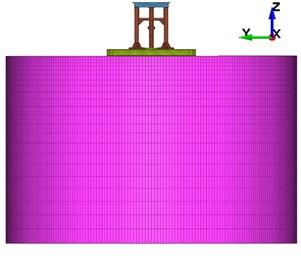 Meshing of vibrator-ground model