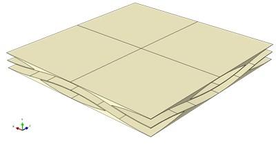 Establishment of the two-dimensional woven laminated composite structure