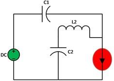 Circuit diagram, 1: a) single stage quasi Z-source b) quasi at ST mode 1, c) quasi at NST mode