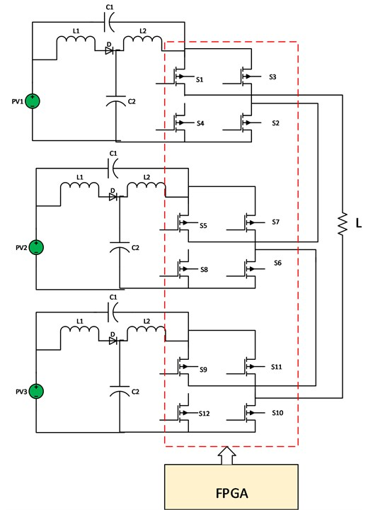 FPGA-based seven level quasi Z-source CML