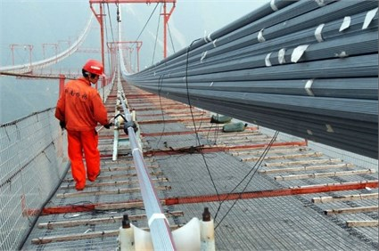 The erecting main cable