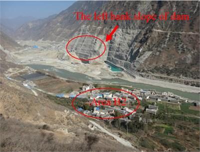 Area B2 and surrounding  blasting operation area