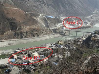 Area C and surrounding  blasting operation area