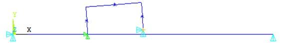 The finite element model of vehicle bump test