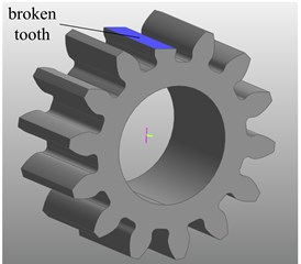 Establishment of planetary gear with broken tooth