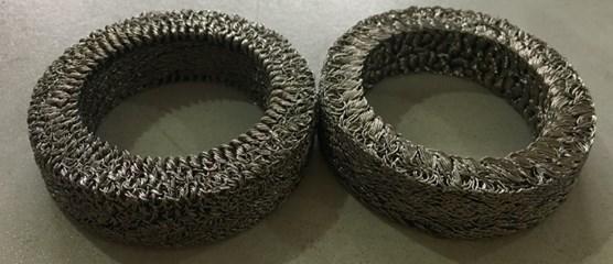 Metal rubber samples