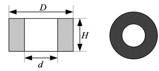 Schematic diagram of metal rubber samples