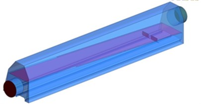 Improved model and three-dimensional trace of air knife