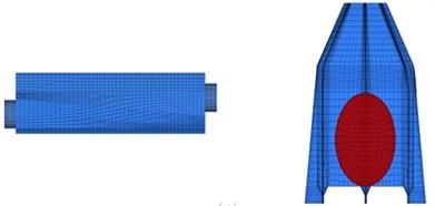 Mesh model of air knife