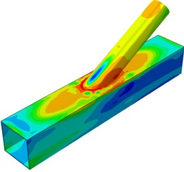 Contours of stress distribution of welded steel pipes during dynamic loading