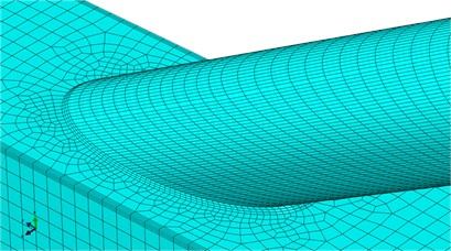Finite element model of tubular joints of welded steel pipes